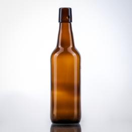 Bierflasche braun 0,5 l Lochmdg.