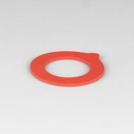 Gummiring rot f. Drahtbügelglas 41x65 mm