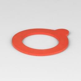 Gummiring rot f. Drahtbügelglas 52x80 mm