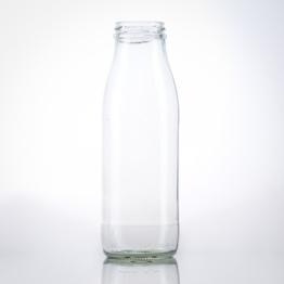 Milchflasche 0,5 Liter weiss TO 48