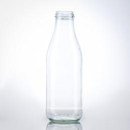 Milchflasche 1 Liter weiss TO 48