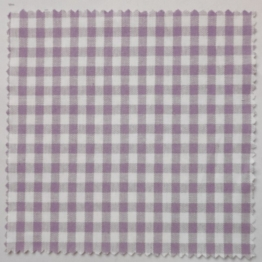 Textildeckchen 15x15mm lila/weiß