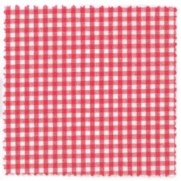 Textildeckchen Karo 12x12 cm rot