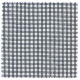 Textildeckchen Karo 15x15cm blau