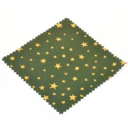 Textildeckchen Sternmotiv 15x15 grün