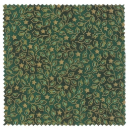 Textildeckchen Weihnachtsmotiv 15cm grün