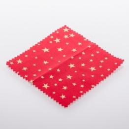 Textildeckchen Weihnachtsmotiv 15cm rot