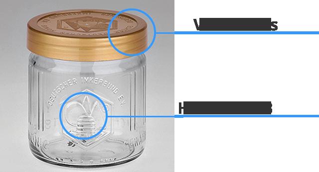 Der Aufbau eines Honigglas