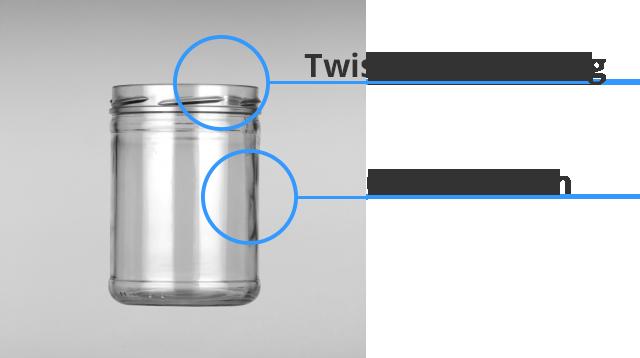 Der Aufbau eines Sturzglases