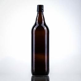 12 x Bierflaschen 1 l inkl. passenden Bügelverschluss – 12 Glasflaschen 1l im Bundle perfekt geeignet als Einmachflaschen 1l, Schnapsflaschen 1l. - 1