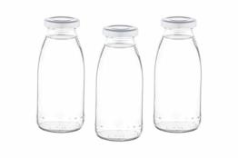 15 oder 24 x 250 ml leere Glasflaschen MIL Milchflaschen kleine Saftflasche mit Schraubverschluss 0,25 liter l von slkfactory (15 Stück) - 1