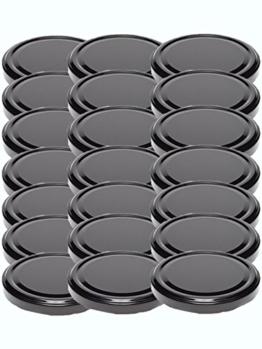48 Twist-Off-Deckel Verschlüsse Ersatzdeckel Deckel für Sturzgläser To 82 Passend für 230/350 / 435 ml / 565 ml (Schwarz) - 1