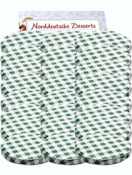 50er Set Ersatzdeckel Twist-Off-Deckel für Sturzgläser To 82 Grün Karriert Sturzglas passend für 230, 350, 435, 540, 565 ml Einmachgläser Einkochgläser - 1