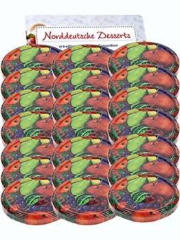 50er Set Ersatzdeckel Twist-Off-Deckel für Sturzgläser To 82 Obst Sturzglas passend für 230, 350, 435, 540, 565 ml Einmachgläser Einkochgläser - 1