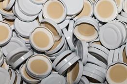 AE-GLAS 10-75 Stück Milchflaschen Deckel Twist-Off-Deckel TO48 mm Verschluss weiß für Glasflaschen (25 Stück) - 1