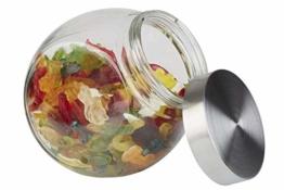 APS Vorratsglas – Behälter mit Premium Glaskugel-Optik und einem Schraubdeckel aus rostfreiem Edelstahl – Aromadichte durch den hochwertigen Schraubdeckel - 1