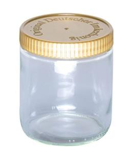 """BIENEN SCHMIDT 60 x Neutrales Schraubglas 500g Imkerhonig Honnigglas mit goldenem Deckel ohne Etikett Honig Neutralglas (Deckel mit Prägung """"Imkerhonig"""") - 1"""