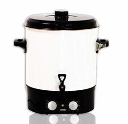 DMS® EA27.T Einkochautomat 27 Liter Einkochtopf Glühweintopf Heißgetränkeautomat Zeitschaltuhr bis 120 Minuten, einstellbare Temperatur 1800 Watt Einkocher - 1