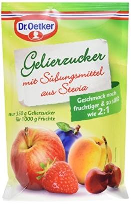 Dr. Oetker Gelierzucker mit Süßungsmittel aus Stevia, 10er Pack (10 x 350 g) - 1