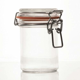 Flaschenbauer- 12 Drahtbügelgläser 212ml verwendbar als Einmachglas, zu Aufbewahrung, Gläser zum Befüllen, Leere Gläser mit Drahtbügel - 1