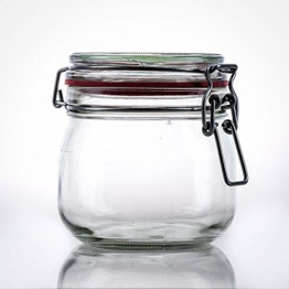Flaschenbauer- 12 Drahtbügelgläser 634ml verwendbar als Einmachglas, zu Aufbewahrung, Gläser zum Befüllen, Leere Gläser mit Drahtbügel - 1