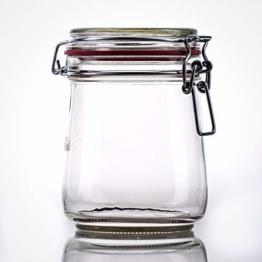 Flaschenbauer- 12 Drahtbügelgläser 800ml verwendbar als Einmachglas, zu Aufbewahrung, Gläser zum Befüllen, Leere Gläser mit Drahtbügel - 1