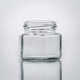 Flaschenbauer- 28x Sechskantgläser 106ml inkl. eines silbernen Twist-Off Verschluss als Einmachglas, zur Aufbewahrung von Gewürzen oder als kleines Honigglas - 1