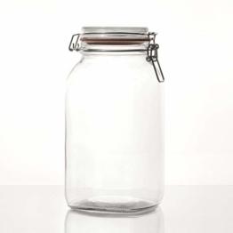 Flaschenbauer- 3 Drahtbügelgläser 2590ml verwendbar als Einmachglas, zu Aufbewahrung, Gläser zum Befüllen, Leere Gläser mit Drahtbügel - 1