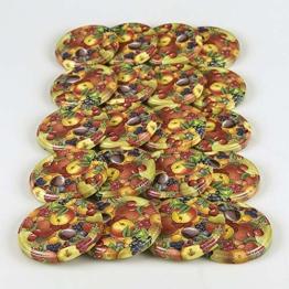 Flaschenbauer - Ersatzdeckel 20 Twist-off-Deckel 82 mm für Gläser, Obstdekor Deckel für Marmeladengläser, Sturzgläser, Einkochgläser, Konservengläser und Einmachgläser TO 82 - 1