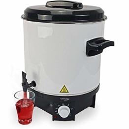 Germatic Einkochautomat- und Heißgetränkeautomat inkl. Einlegegitter Glühweinkocher mit Zapfhahn Multifunktionsgerät 1800W 27 l Volumen - 1