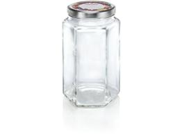 Leifheit Sechskantglas 1700ml, Einmachglas, Weckglas ideal für Eingemachtes, dekoratives Vorratsglas, ideal zur Aufbewahrung von größeren Mengen, spülmaschinengeeignet, made in germany - 1