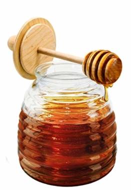NERTHUS FIH 348 Honigglas mit Tropfer, transparent, ursprüngliche, durchsichtig - 1
