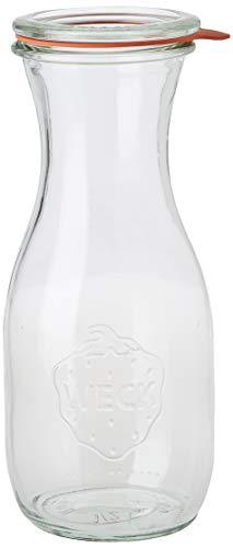 Saftflaschen mit Deckel, Einkochringen und Einweckklammern - Füllmenge: 500 ml - 4 Stück - 1