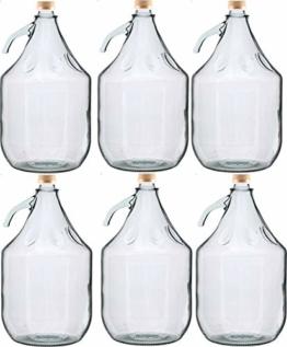 Unbekannt 6 STÜCK 5L Gärballon mit SCHRAUBVERSCHLUSS Flasche Glasballon Weinballon Glasflasche - 1