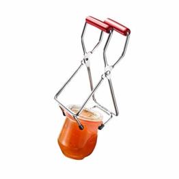 Westmark Konserven-/Einmachglas-Heber, für Glasdurchmesser bis 18 cm, Verchromter Stahl/Kunststoff, Silber/Rot, 10532270 - 1