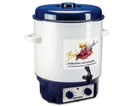 ROMMELSBACHER Glühwein-/Einkochvollautomat KA 1804 - 2-Schicht-Emaillierung, 27 Liter/für 14 Gläser à 1 Liter, stufenlos regelbar, Entsafterschaltung, Zeitschaltuhr, Ablaufhahn, Überhitzungsschutz - 1